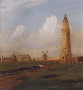 Кече манара һәм Ак пулат хәрабәләре, Алексей Саврасов, 1872-74