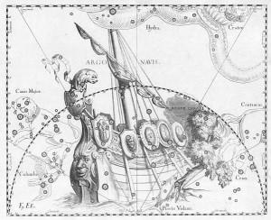Арго корабы Һевелий атласында, 17 гасыр