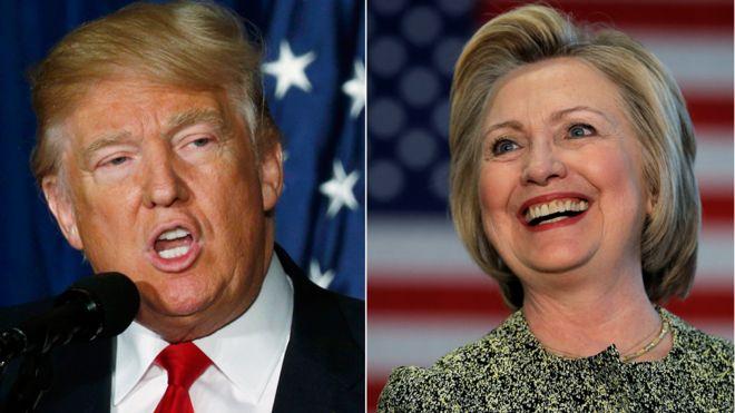 Президентлыкка төп намзәтләр - Трамп һәм Клинтон