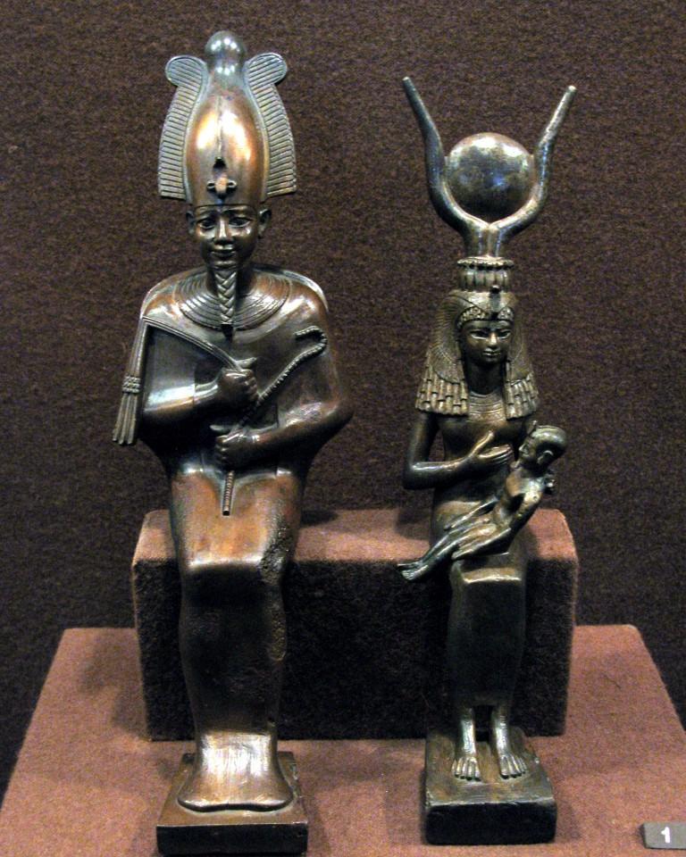 Осирис, Исида һәм сабый Һор