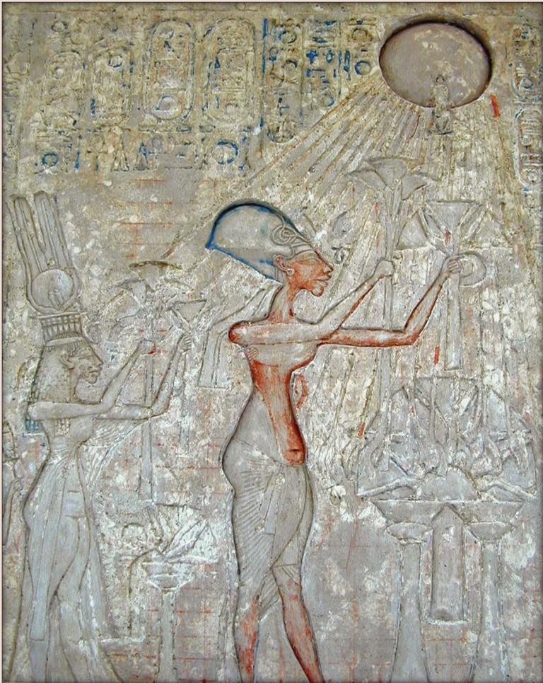 Эхнатон гаиләсе белән Атонга табына