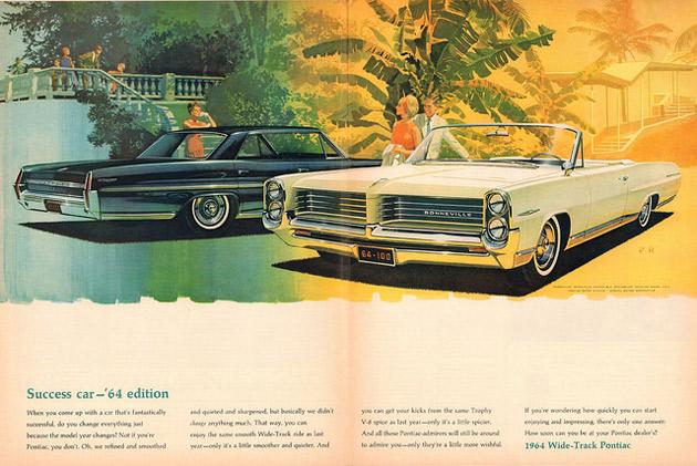 еклама Pontiac Bonneville-Catalina в журнале Life от 4 октября 1963 года